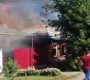 В Туле загорелись два частных дома: видео