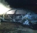 В тульском селе ночью загорелась «Шкода Октавиа»