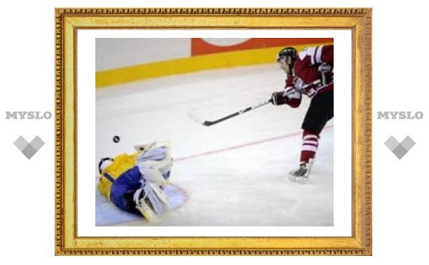Сборная Швеции по хоккею проиграла Латвии
