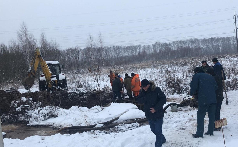 На Маслово-Песоченском водоводе произошла авария: в южной части Тулы перебои с водой