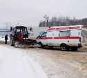Работники скорой помощи пострадали в ДТП с трактором