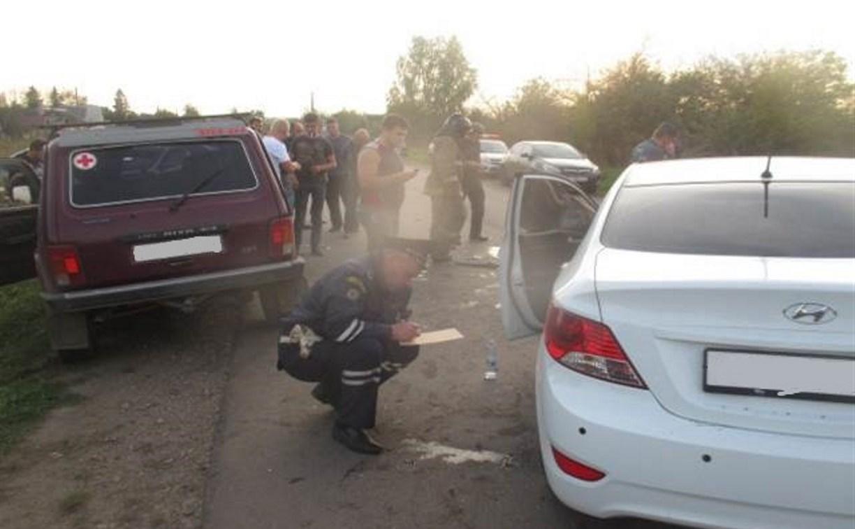 На Новомосковском шоссе в Туле «Лада» на скорости въехала в «Рено»