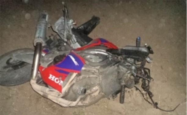 Двое мужчин насмерть разбились на мотоцикле под Алексином