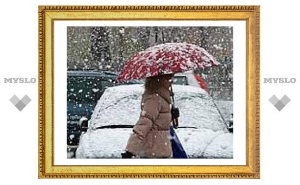 Во вторник в Туле снегопад