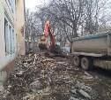 В Туле на пр. Ленина сносят здание бывшего детского сада
