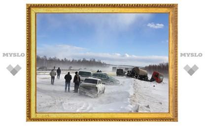 34 машины столкнулось из-за погодной аномалии