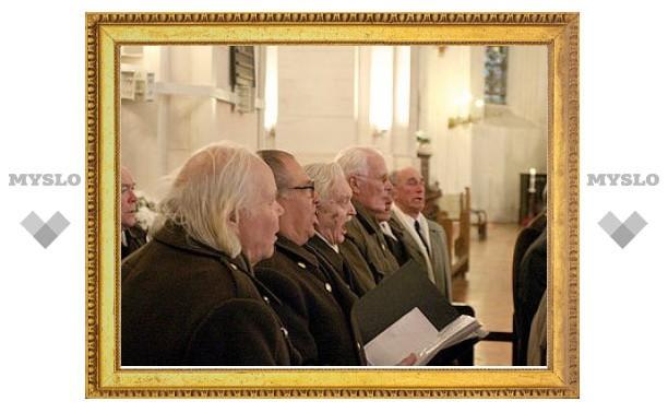 Шествие легионеров SS в Риге началось с богослужения