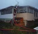 В Чернском районе сгорела дача
