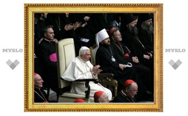 Бенедикт XVI побывал на концерте православной музыки в Ватикане