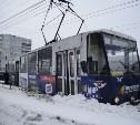 В Пролетарском районе Тулы с рельсов сошел трамвай