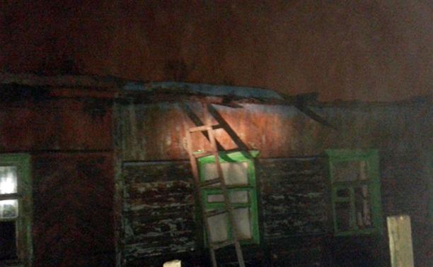 В Щекино сгорел частный дом