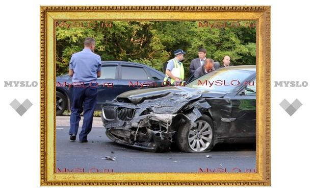 Эксклюзивные кадры аварии с участием тульского губернатора