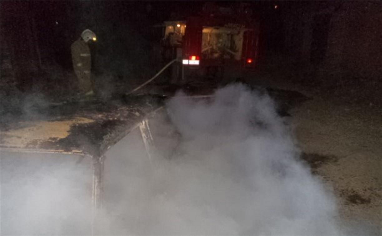 Ранним утром в Белёве сгорел автомобиль