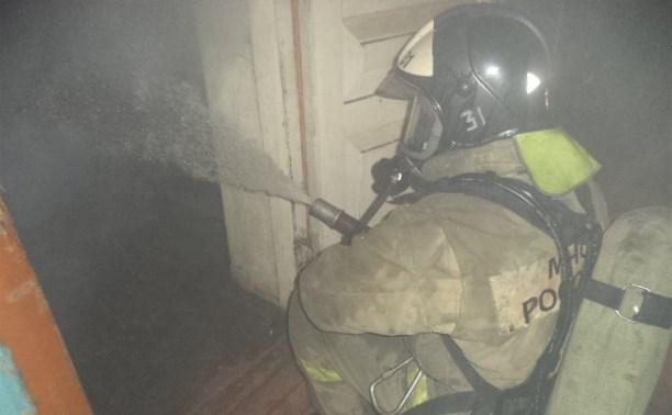 В ночном пожаре в Щекинском районе погиб человек