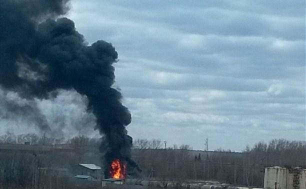 Во время пожара на бензовозе в Щёкино погиб мужчина