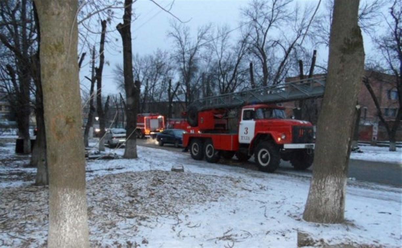 На пожаре в Пролетарском районе Тулы пострадал мужчина
