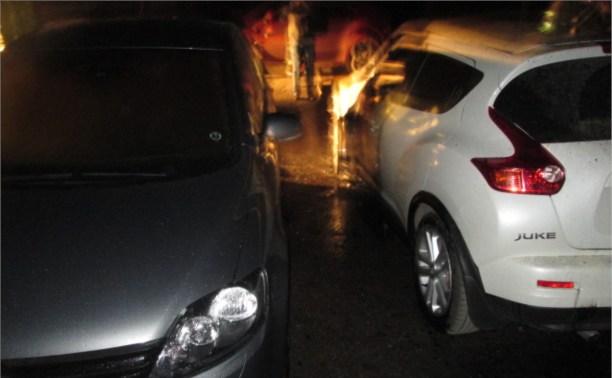 Ночью в Узловой сгорели три автомобиля