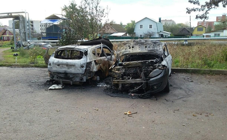 Ночью в Туле и Щекино сгорели четыре автомобиля