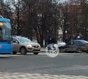 На Красноармейском проспекте в Туле столкнулись BMW и Toyota