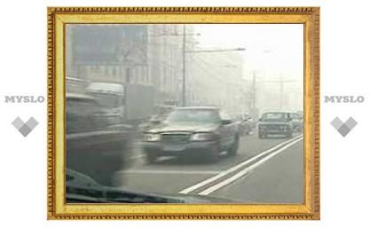 Из-за тумана сильно затруднено движение в Москве и Подмосковье