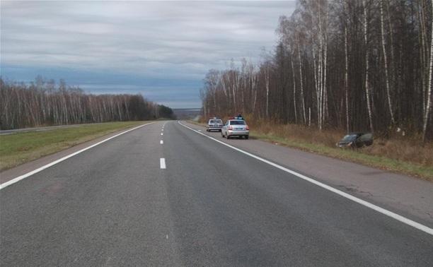 На трассе М2 «Крым» перевернулся автомобиль