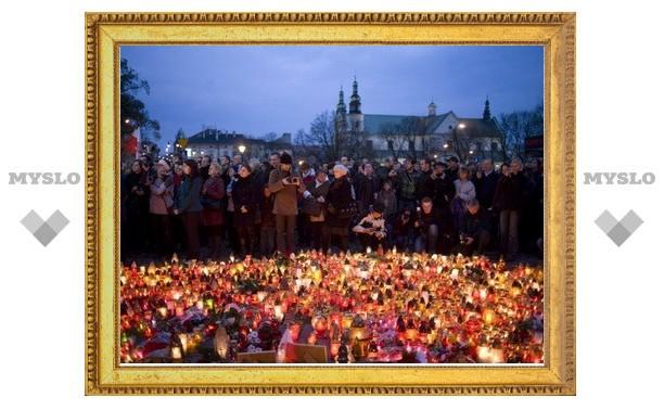Тула скорбит по погибшим в авиакатастрофе полякам