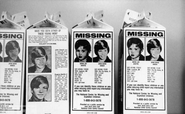 В России могут начать печатать фотографии пропавших детей на упаковках молока