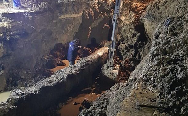 Коммунальная авария в южной части Тулы: выявлен еще один аварийный участок