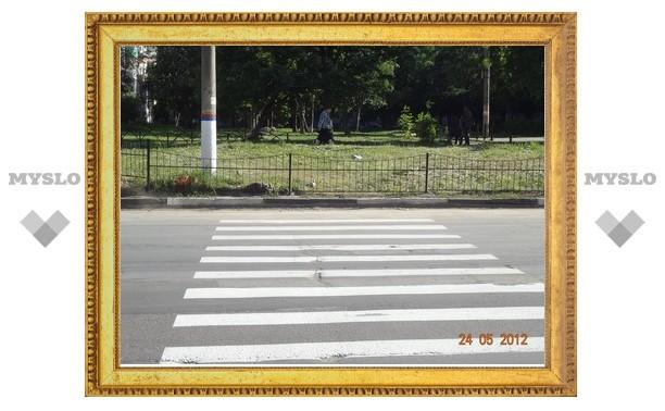 В Туле появился пешеходный переход «в никуда»