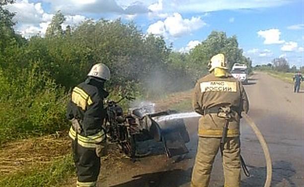 В Ефремовском районе загорелся мотоцикл «Днепр»