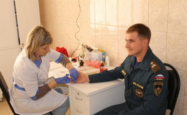 Тульские спасатели сдали кровь на донорство