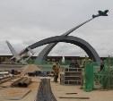 Возле мемориала «Защитникам неба Отечества» продолжают строительство фонтана