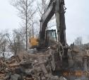 В Пролетарском районе снесли аварийный дом