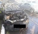 На улице Степанова в Туле сгорела «Лада Веста»