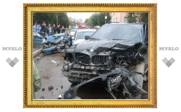 BMW X5 вылетел на встречку и врезался в Daewoo