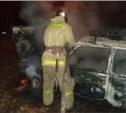 Ночью в Щёкинском районе сгорела «Нива»