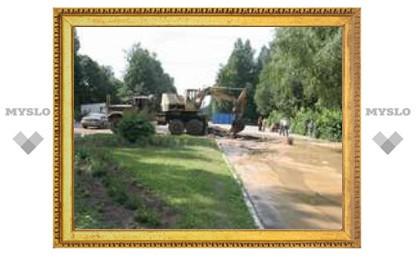 Центральный парк Тулы заливает
