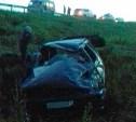 В Тульской области пьяный водитель опрокинулся на «Ссанг Йонге»