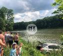 В Туле на пляже машина «убежала» в реку