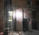 Ночью в Новомосковске горело заброшенное здание