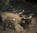 На Одоевском шоссе иномарка наехала на отбойник