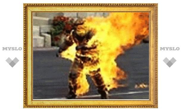 Под Тулой на 22-летнем мужчине в Рождество загорелась одежда