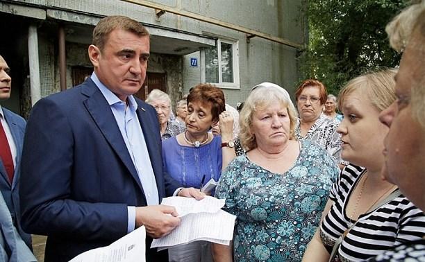 В Щёкино Алексей Дюмин поручил отремонтировать  подъезд дома на Ясенковском проезде
