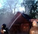 Утром под Новомосковском сгорела дача