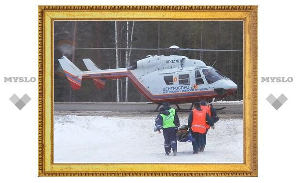На трассе «Дон» в Тульской области будут дежурить вертолеты МЧС