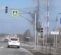 На Щёкинском шоссе загорелся светофор: видео