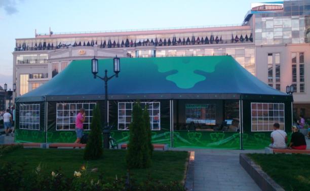 """Фонтан у """"Гостиного двора"""" загородили летним кафе"""