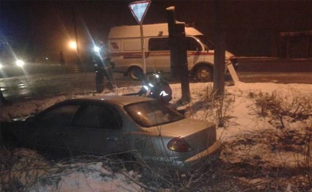 Ночью в Тульской области два автомобиля улетели в кювет