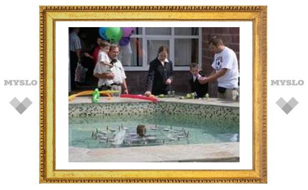 В Яснополянском детском доме новый фонтан