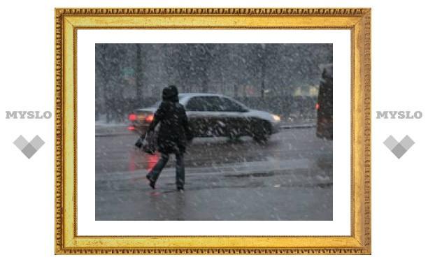 В Туле прошел сильный снегопад